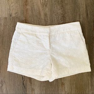 Excellent Condition Kenar White Eyelet Shorts